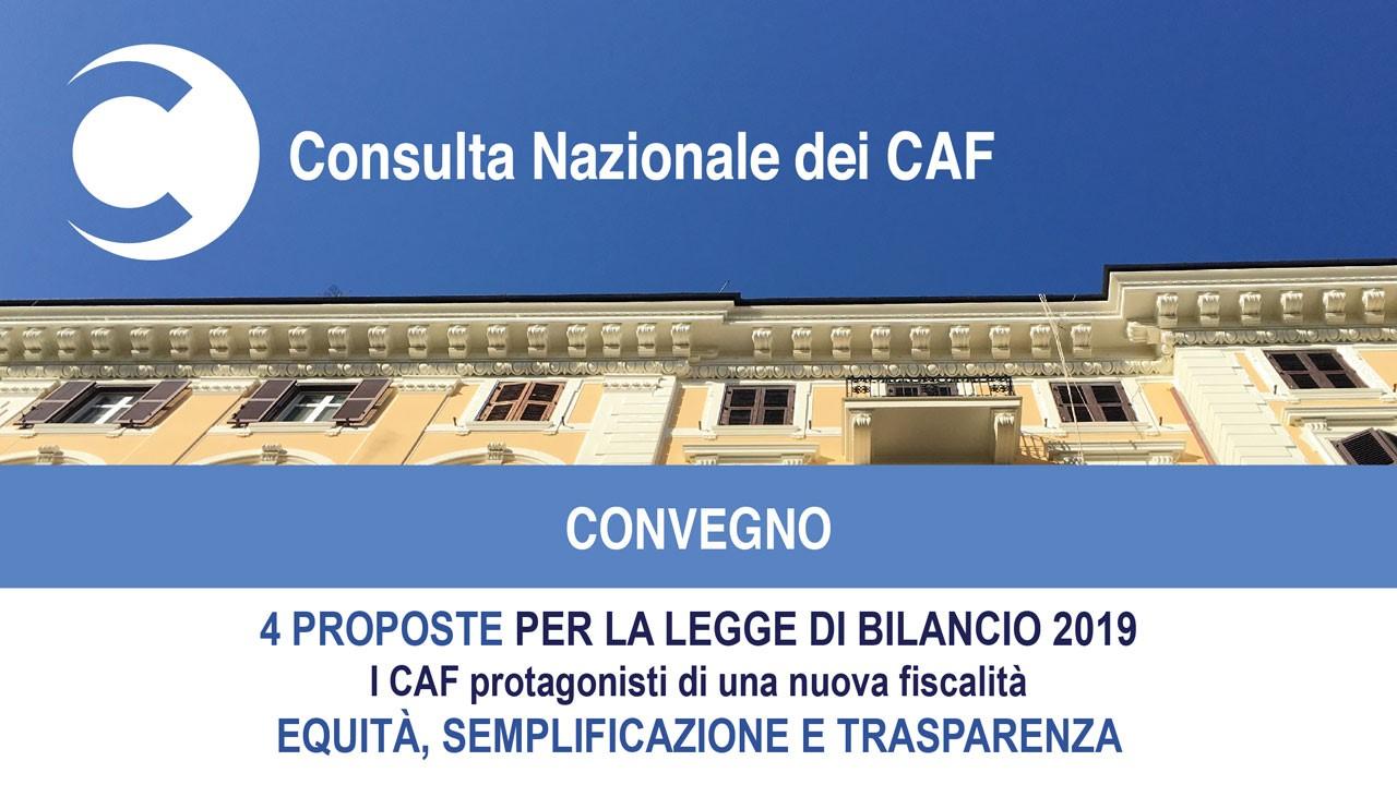 Consulta dei Caf: semplificazione, equità e trasparenza a supporto della Manovra 2019