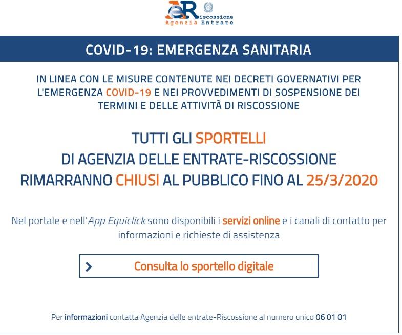 Agenzia Riscossione e Decreto Cura Italia
